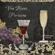 Fine French Wines - Vins Beaux Parisiens Art Print
