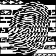 Fingerprint Scanner Maze Art Print