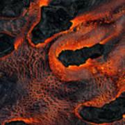 Fingers Of Lava Art Print