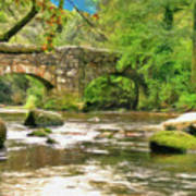 Fingle Bridge - P4a16013 Art Print