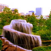 Finlay Park Fountain Summertime Art Print