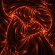 Fire Abstraction Art Print