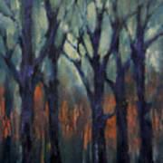 Fire At Sunset Art Print