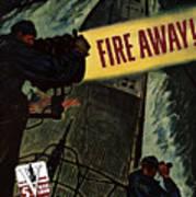 Fire Away Art Print by War Is Hell Store