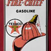 Fire-chief Sign Art Print