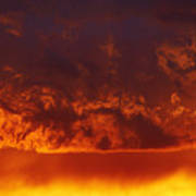 Fire Clouds Art Print by Michal Boubin