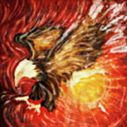 Fire Eagle Art Print