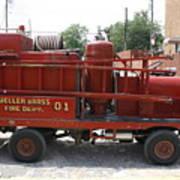 Fire Engine Of Older Years  Art Print