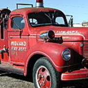 Fire Engine Red Art Print