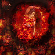Fire Eye Art Print