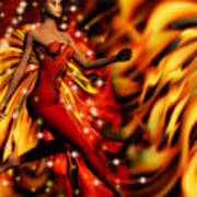 Fire Fae Art Print