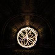 Fire Flower Tunnel Art Print