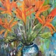 Fire Flowers Art Print