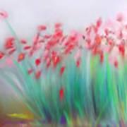 Fire-flowers-spring Art Print