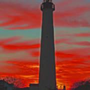 Fire Frames The Lighthouse Art Print