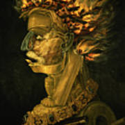 Fire Art Print by Giuseppe Arcimboldo