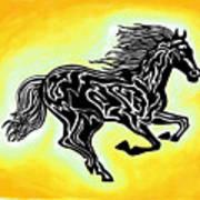 Fire Horse 3 Art Print