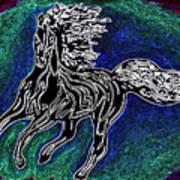 Fire Horse Burn 3 Art Print
