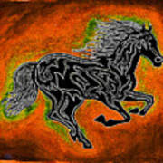 Fire Horse Neona 4 Art Print