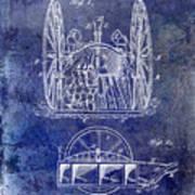 Fire Hose Cart Patent Blue Art Print