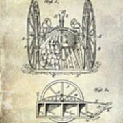 Fire Hose Cart Patent Art Print