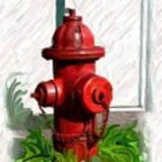 Fire Hydren Art Print