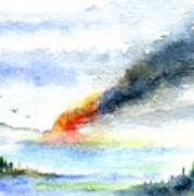 Fire in the Mountains Art Print