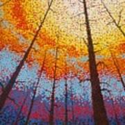 Fire  Over Montana 2017 Art Print