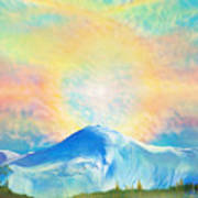 Fire Rainbow Over Alberta Peak Wolf Creek Colorado Art Print
