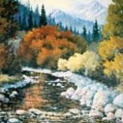 Fire River Art Print