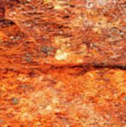 Fire Rock Art Print