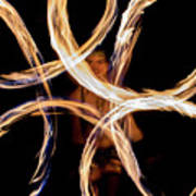 Fire Spinning With Fern - 13 Art Print
