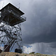 Fire Tower On Bald Mountain Surrounded Art Print