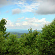 Fire Tower View - Pipestem State Park Art Print