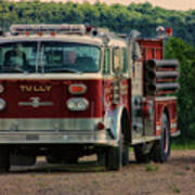 Fire Truck  Engine 13 Village Of Tully New York Pa Art Print