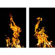 Fire X 6 Art Print by Tomasz Dziubinski