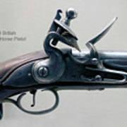 Firearms 1746 British Flintlock Horse Pistol Art Print