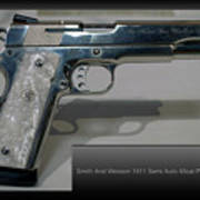 Firearms Smith And Wesson 1911 Semi Auto 45cal Pearl Handle Pistol Art Print