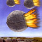 Fireballs Art Print