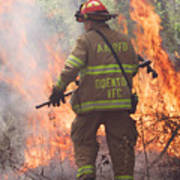Firefighter 967 Art Print