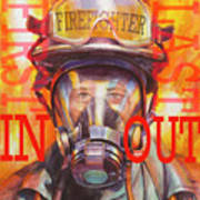 Firefighter Art Print