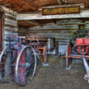 Firefighting Engine Company No. 1 - Nevada City Montana Ghost Town Art Print