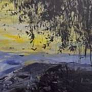Fireflies Nocturne Art Print