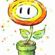 Fireflower Watercolor Art Print