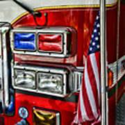 Fireman - Fire Truck Art Print