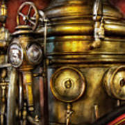 Fireman - The Steam Boiler  Art Print