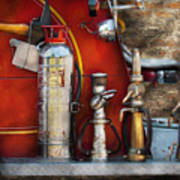 Fireman - An Assortment Of Nozzles Art Print
