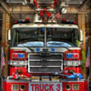 Fireman - Fire Engine Art Print by Lee Dos Santos