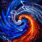 Firestorm Dancing With The Wind  Art Print