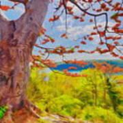 Firetree Art Print